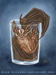 Bat in Glass by darknatasha