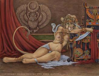 Divine Sekhmet by darknatasha