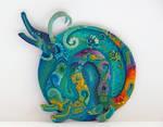 Rainbow dragon by Adora-Mander
