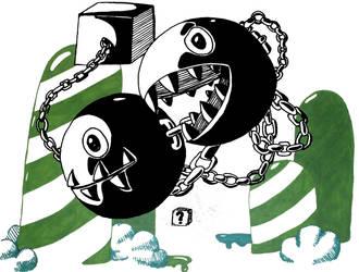 Chain Chomps by Kerokacola