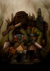 Ork boyz by Damadgon
