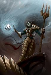 Mermaid Warrior by Damadgon