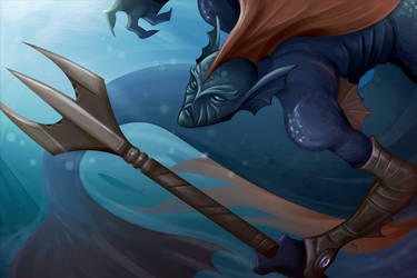Blue Warrior by Damadgon