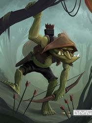 Green Archer by Damadgon