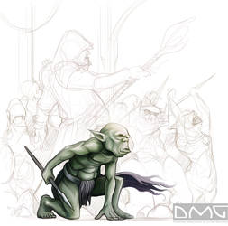 Army of Orcs by Damadgon