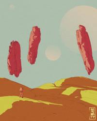 Flying rocks... or flying steaks? by So-watt