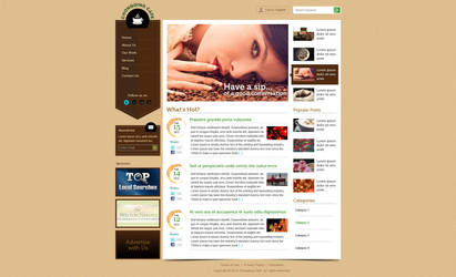 Cafe Web Design by bojok-mlsjr