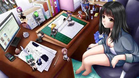 Manga artist's assistants by ilolamai