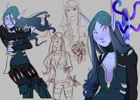 Void Elf Sketches by Fiaher