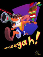 Urabegah! Crash Bandicoot by DerpyTots
