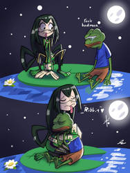 Froppy and Pepe Sad  by DerpyTots