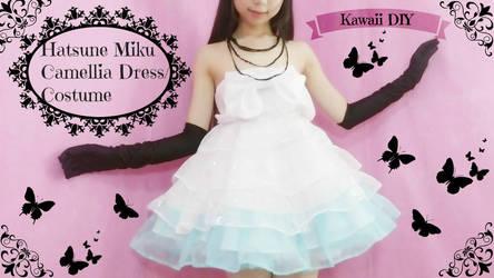 Vocaloid Cosplay DIY - Hatsune Miku Camellia Dress by YumiKing