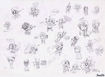 Teen Titans chibis by Invi16