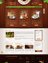Online Store for a company that sells coffee from by Natalari