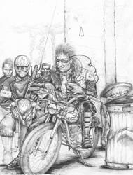 Cyberpunk Street Gang by BrianGermain
