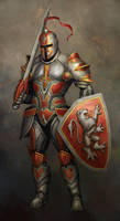 Knight with helmet by Bahlor