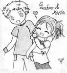 Gustav and Karla by HitomixNeji