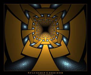 Spaceship Corridor by Wick5ter