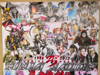 Ninja Gaiden 25 Anniversary Fan Art Xbox/PS3 Part by ninjaEkia