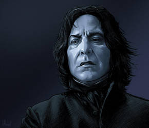 Alan Rickman Is Snape by Lithrael
