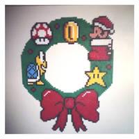 christmas wreath by staubtaenzerin
