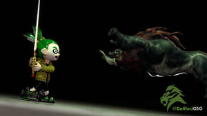 [GMOD] Green Inkling Boy vs. Beast Ganon by DaVinci030
