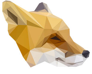 Low Poly Red Fox by ElodieCarpentier
