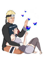 Naruto and Hinata: Among the butterflies by brilliant-beatrice