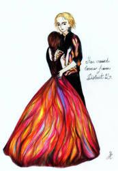 Katniss and Peeta by La-Chapeliere-Folle