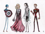 Tim Burtonned Avengers part 1 by La-Chapeliere-Folle