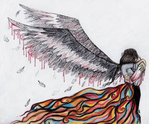For the Wings my Angel gave to me were His. by La-Chapeliere-Folle