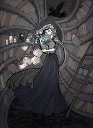 Death's Library by La-Chapeliere-Folle