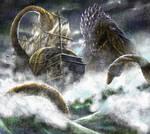 The Kraken attacks by Chongo-zilla