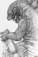 Godzilla sketch by Chongo-zilla