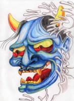 Oni Mask by cosmogenesis