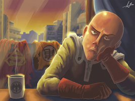 Saitama is bored by FabianLeonardo