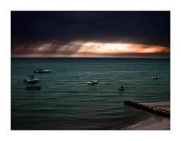 Stormy Sunset by iridel