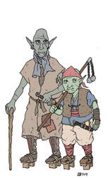 Two Northern Orc Leaders by pfendino