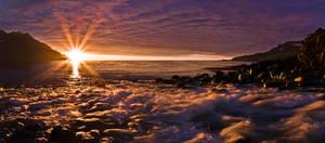 Sunrise panorama by Parasin