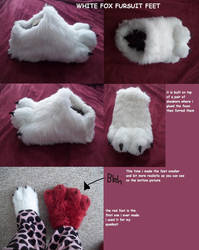 white fox fursuit feet paws by AlieTheKitsune