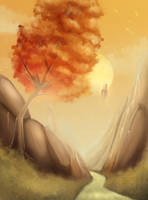 Point Nemo - Autumn Mountains by nkpunch