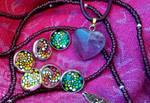 Mandala earrings 'with a twist' by lPrimrose