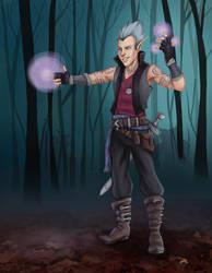 Zythus, Elven Warlock by Squeakyrat