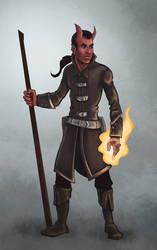 Tiefling Sorcerer by Squeakyrat