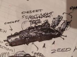 Desert Scout / Light Transport Sketch by zeedurrani