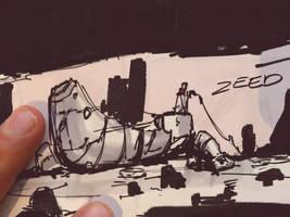 Nomad Squad Sketch Doodle by zeedurrani
