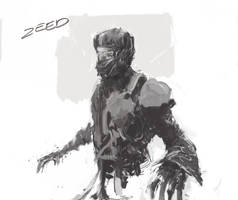 Ninja Dude Sketch by zeedurrani