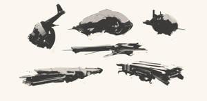 Spaceship Thumbnails Sketch 06032017 by zeedurrani