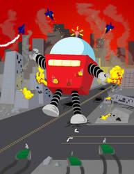 Robot Parade by Kenjamin-Art-Design