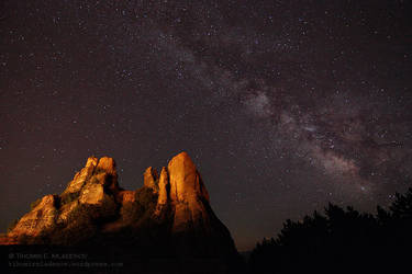The Rocks and the Milky Way by tihomirmladenov